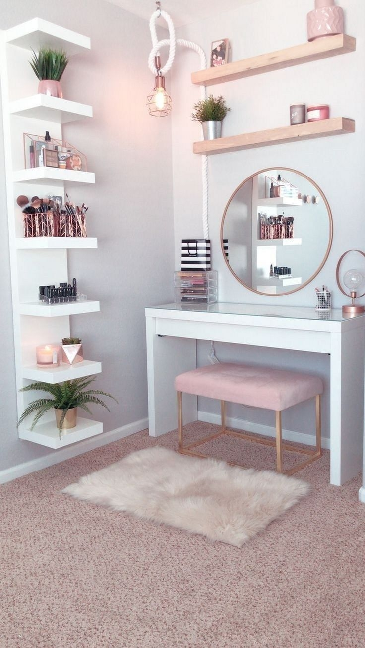30 Affordable Home Decoration Ideas With Makeup Vanity That Can Inspire You Gagohome